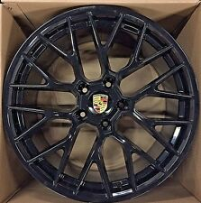 "20"" PORSCHE CAYENNE 2015- 2018 HYBRID WHEELS RIMS NEW OEM GLOSSY BLACK SET OF 4"