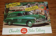 1949 Chevrolet Truck Sedan Delivery Foldout Sales Brochure 49 Chevy