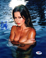 BROOKE BURKE SIGNED AUTOGRAPHED 8x10 PHOTO VERY SEXY TOPLESS PSA/DNA