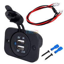 12V Dual USB Port Socket Car Cigar Lighter Splitter Charger Power Adapter Outlet