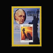 Nevis, Sc #520, MNH, 1986, S/S, Statue of Liberty, James Buchanan, A1AHIcx