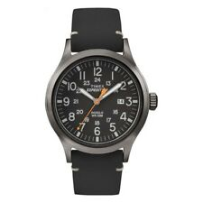 Timex TW4B01900 Mens Expedition Analog Elevated Black Leather Strap Watch £64.99