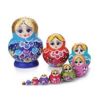 10 Layer Wooden Russian Nesting Dolls Matryoshka Home Decor Ornaments Gift