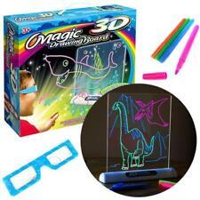 Creative Magic Drawing Board Children Toys Boys Girls Pen 3D Glasses UK