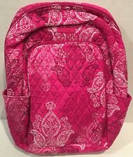VERA BRADLEY Laptop Backpack Stamped Paisley Pattern Cotton Quilted NEW 14417