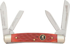 New Browning Folding Pocket Knife Red Bone Congress BR184