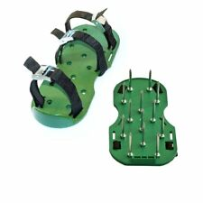 Aleko Sharp Aerating Lawn Garden Spike Shoes Green Color