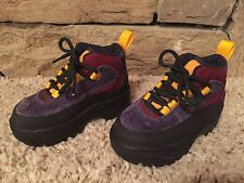 Gymboree Toddler Hiking Boots Size 5 - Suede multi-colored  - EUC