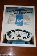AU16=1972=LONGINES OROLOGIO WATCH=PUBBLICITA'=ADVERTISING=WERBUNG=