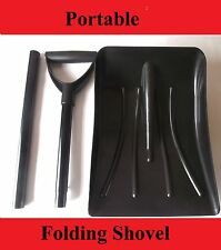 PORTABLE FOLDING SNOW SHOVEL MUCKING OUT STABLES HORSE