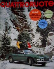 Quattroruote 145 1968 Prove Simca 1100. Porsche Automatica. Fari allo iodio Q.64