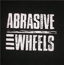 New ABRASIVE WHEELS logo black fabric patch - PUNK! (Free p&p)