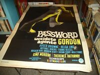 Password Kill Agente Gordon Manifesto 2F Original 1964 T.Hathaway