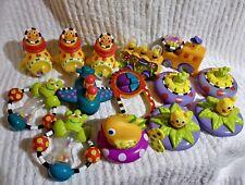 Sassy Baby Bk Infant Toddler Rattles Teething Rings Plush Toys Phone Sub Lot 14