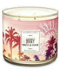Bath & Body Works Berry Waffle Cone 3 Wick Scented Candle 14.5 oz