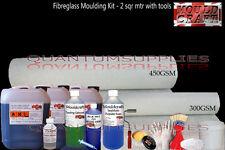 Fibreglass 2 Metre Mould making kit + Tools Pack - Resin, Gelcoat, Matting, Wax