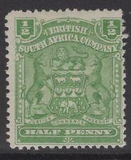 RHODESIA SG75a 1904 ½d YELLOW-GREEN MTD MINT