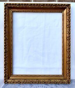 Old Vintage Gilt Gold Wood Gesso Barbizon Victorian Style Picture Frame 16x20
