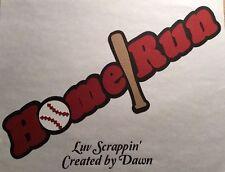 Die Cut HomeRun Baseball Title