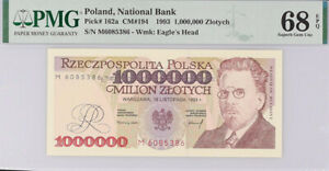Poland 1000000 Zlotych 1993 P 162 a Superb Gem UNC PMG 68 EPQ Top Pop