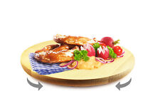 Drehteller Pizzateller ø 30 cm drehbar Holzteller Drehplatte Buche Käseteller