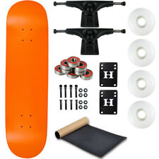 "Moose Complete Skateboard Neon Orange 7.75"" With Black Trucks and White Wheels"