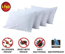 Pillow Protectors Standard 4 Pack 100% Waterproof Anti Allergy Bed Bug Dust.