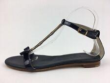 AGL Women's 608028 T-Strap Sandals Size EUR 38, Navy 2476