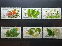 German DDR 1978 Medicinal Plants.6 stamp set MNH  E2002