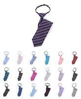 """Boy's 17"""" Geometric Pattern Zipper Neckties Pre-Tied"""