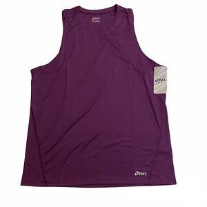 Asics Core Singlet Running Tank Top Purple, Men's Size X-Large, MR1103-64 NWT