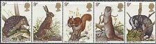 Great Britain 1977 WILDLIFE Strip of 5 Unhinged SG 1039-43