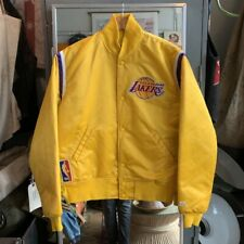 Vintage 1980s 90s Los Angeles LA Lakers Starter Golden Yellow Med EUC NBA Champs