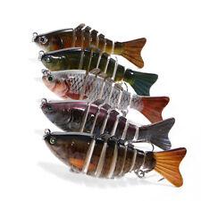 5Pcs 7 Segment Multi Jointed Fishing Lures Fishing Bait W/Hooks New