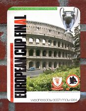 Liverpool Tin Sign 1984 European Cup Final  Programme Metal Sign.