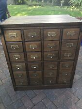 Stunning 24 Drawer Vintage Card Index Cabinet