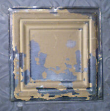 Sale! Antique Ceiling Tin Tile Simple and Elegant Framed Canvas Iridescent Chic