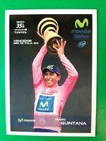 CYCLISME carte cycliste NAIRO QUINTANA équipe MOVISTAR Vainqueur GIRO 2014