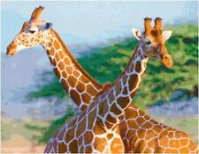 Cross Stitch Chart 2 Giraffes Needlework Aida Picture Design Craft