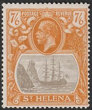 St Helena 1922 KGV 7sh6d Grey-Brown and Yellow-Orange Mint SG111 cat £150