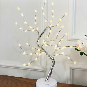LED Night Light Tree Stars Table Lamp Party Wire Garland Lamp Christmas SUP