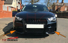 AUDI A1 TO RS1 STYLE FOG LIGHT COVER GRILLE GLOSS BLACK EDITION 2011 TO 2014