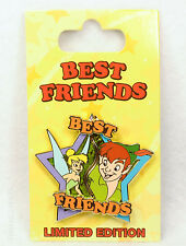 Disney Pin BEST FRIENDS TINKER BELL & PETER PAN Limited Edition 2 pins