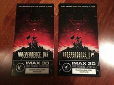 TWO Independence Day: Resurgence IMAX Premiere Collectors Tickets LIMITED #/500