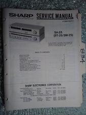 Sharp St Sm Sa-25 service manual original repair book stereo receiver radio