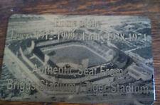 TIGER   BRIGGS   STADIUM  SEAT PLAQUE