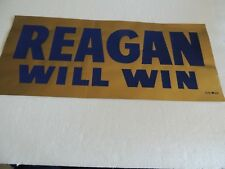 President Ronald Reagan poster from 1968 or 76 Gold & Blue