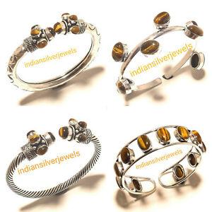 Free Shipping 4pcs Bangles Cuff Tiger Eye Bracelets Wristbands Fashion Jewelry