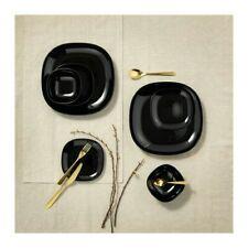 Dinner Set Dinnerware Square Black Plate Bowl Tableware 6 12 18 Pc Ikea Backig
