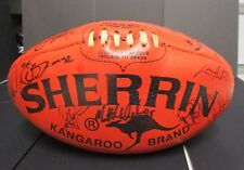 Melbourne  - Early 2000's team signed Sherrin Football - Red - Kangaroo Brand
